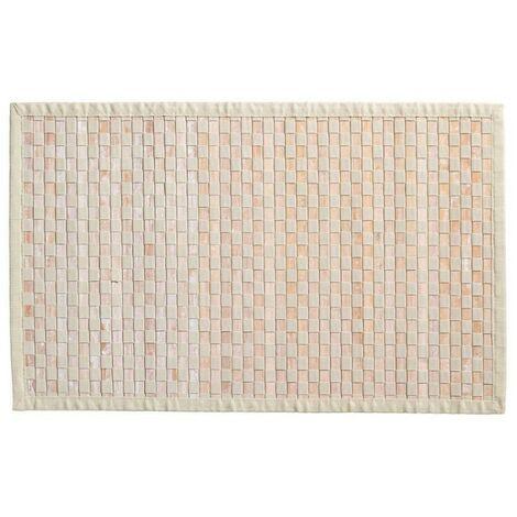 Tapis bambou damier clair - Beige