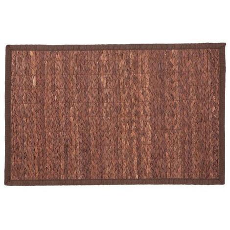 Tapis bambou tressé 50x80 cm choco - Chocolat