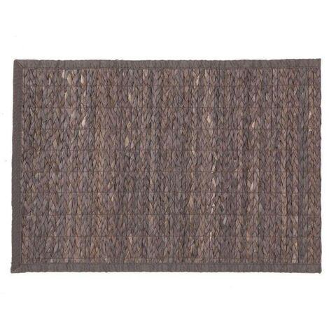 Tapis bambou tressé 50x80 cm gris foncé - Gris