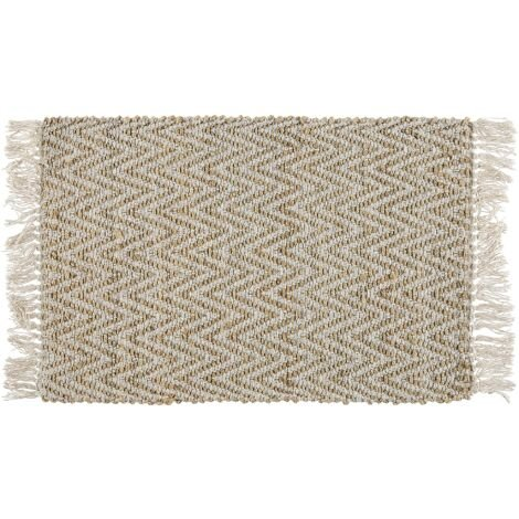 Tapis beige à motif zigzag 50 x 80 cm AFRIN