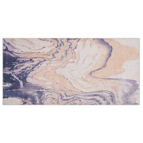 Tapis beige - gris 80 x 150 cm GEBZE