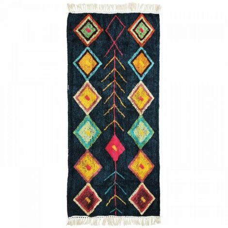 Tapis Berbere Color - 80 x 180 cm - Bleu