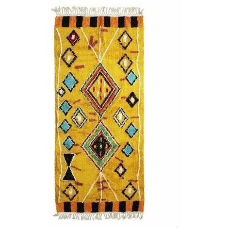 Tapis Berbere Color - 80 x 180 cm - Jaune
