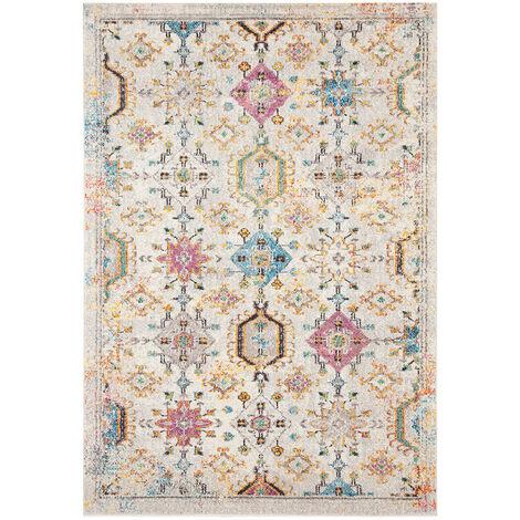 Tapis berbère coloré pour salon rectangle ethnique Wexford Multicolore 160x230 - Multicolore