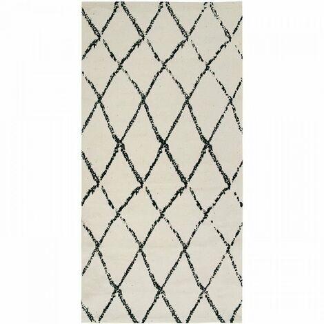 Tapis Berbere Losange - 60 x 120 cm - Naturel