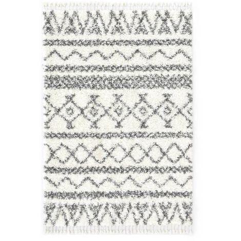 Tapis berbere PP Beige et gris 140x200 cm
