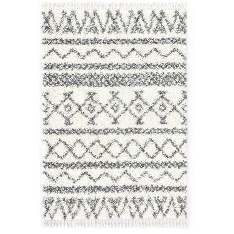 Tapis berbère PP Beige et gris 160x230 cm