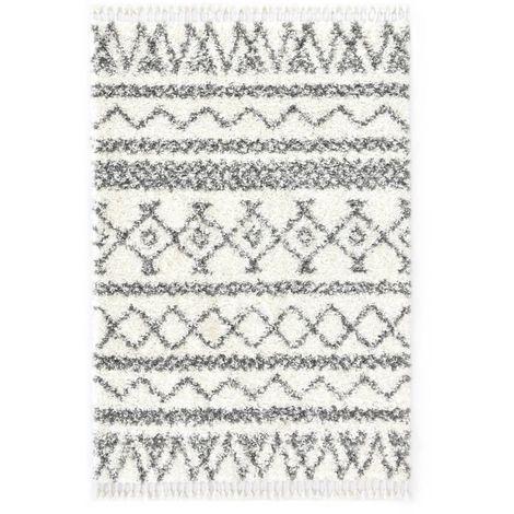 Tapis berbere PP Beige et gris 160x230 cm