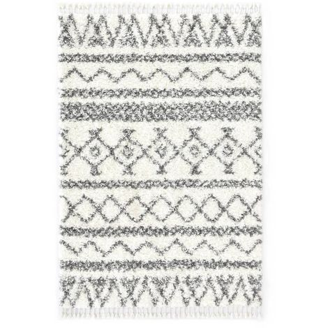 Tapis berbere PP Beige et gris 80x150 cm