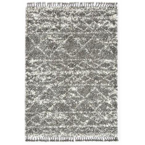 Tapis berbere PP Gris et beige 80x150 cm