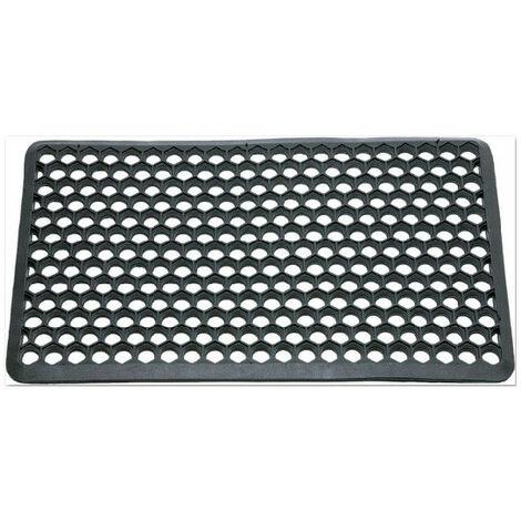 Tapis caillebotis caoutchouc bord brisé Hexagone 40x60cm