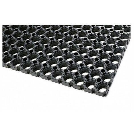 Tapis caillebotis caoutchouc noir 100 x 150 cms ep. 23 mm