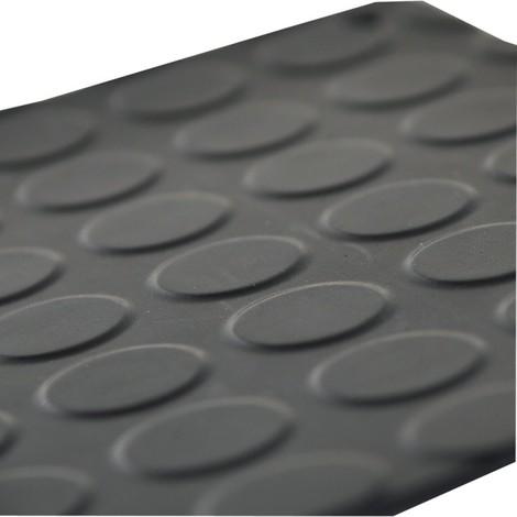 Tapis caoutchouc noir 1200mm x 10m Typ IN 32