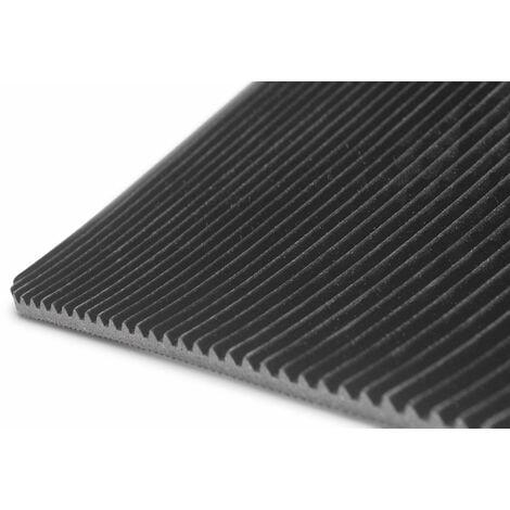 Anro Tapis de protection en caoutchouc avec picots 100/cm- Tapis de sol Caoutchouc SBR. 50 x 100cm Lisse 1 mm.
