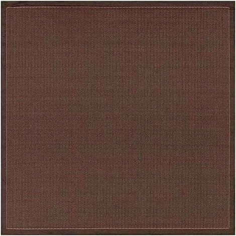 Tapis carré extérieur et intérieur moderne Alphée Noir 200x200 - Noir