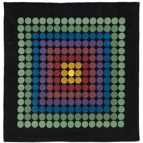 Tapis Carré VP08 250cm - Verner Panton Style Multicolore
