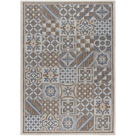 Tapis carreaux de ciment intérieur et extérieur plat Tufino Multicolore 120x170 - Multicolore