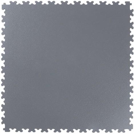 Tapis carrelage PVC gris foncé, 505x505x4mm