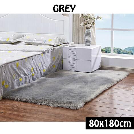Tapis Chambre Tapis Salon Carpet D'enfant Yoga Shaggy Moquette Anti-dérapage Absorbant 80x180cm
