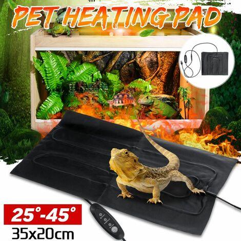 Tapis chauffant pour animaux de compagnie USB chauffé électrique 3 stalles réglable coffre-fort coussin chauffant pour chien chat coussinets reptiles