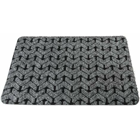 Tapis chevron gris et noir de 40 x 60 cm