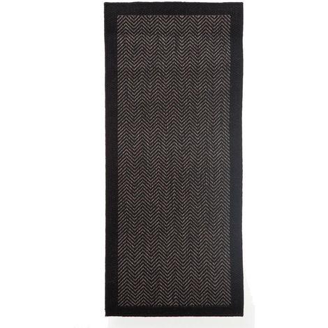 Tapis Chevron Noir - L. 50 X l. 120 cm -PEGANE-