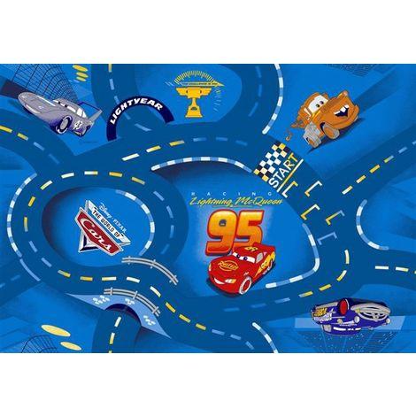 Tapis circuit Cars bleu Disney