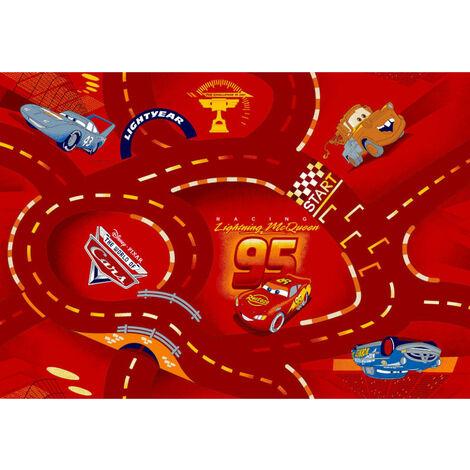 Tapis circuit Cars rouge Disney 95x133cm