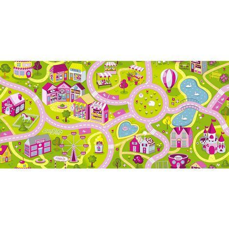 Tapis circuit Fille Sweet Town Candy -Tapis : 140 x 200 cm