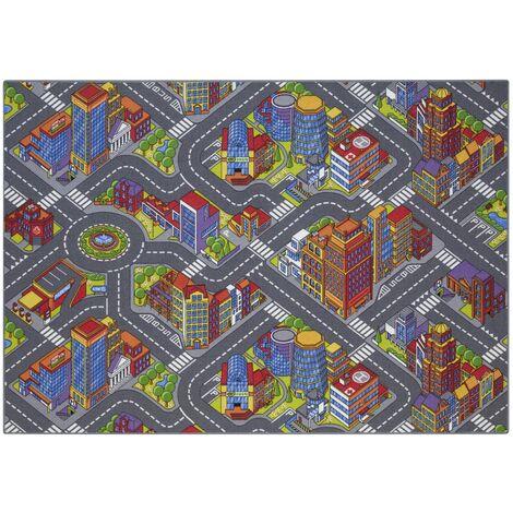 Tapis circuit voiture - Big city - 95 x 133 cm