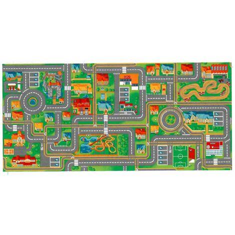 Tapis circuit voiture Play City-Tapis : 95 x 133 cm