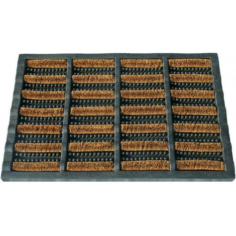 Tapis coco caoutchouc renfort acier combimat 40x60 cm