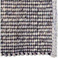 Tapis coloris gris / bleu clair en coton, laine - Dim : 160 x 230 x 1 cm -PEGANE-