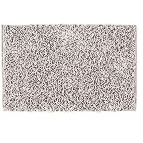 Tapis de bain Chenille gris clair