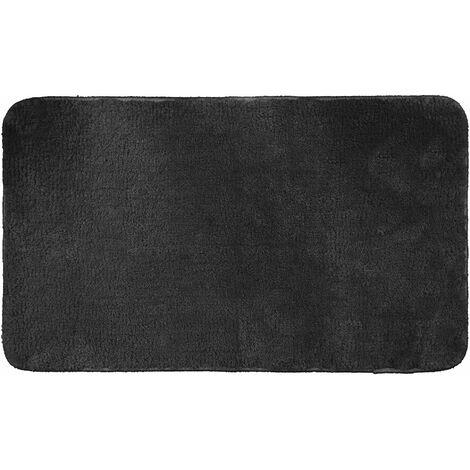Tapis de bain 45 x 75 cm microfibre unie dolcy Noir