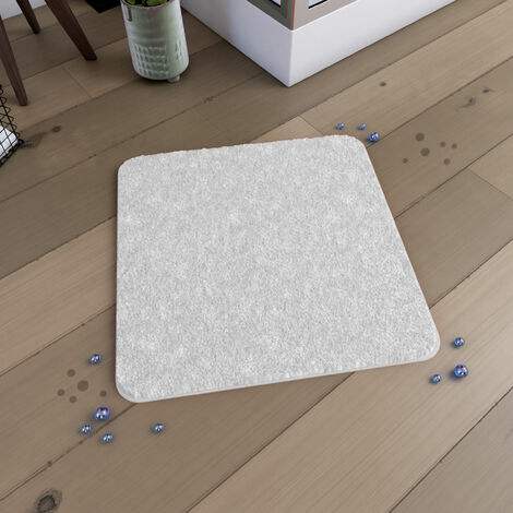 Tapis de bain 60x60cm Antidérapant et en Microfibre - SUBTIL BLANC - Blanc