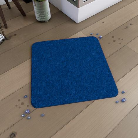 Tapis de bain 60x60cm Antidérapant et en Microfibre - SUBTIL BLEU - Bleu