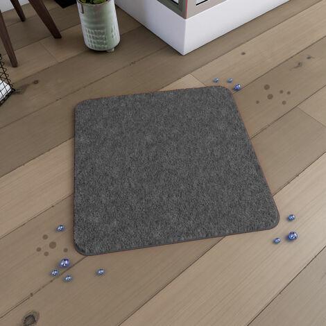 Tapis de bain 60x60cm Antidérapant et en Microfibre - SUBTIL GRIS - Gris