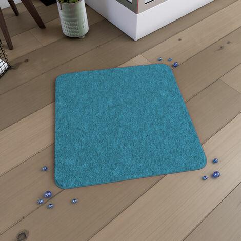 Tapis de bain 60x60cm Antidérapant et en Microfibre - SUBTIL TURQUOISE - Turquoise