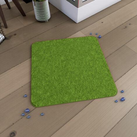 Tapis de bain 60x60cm Antidérapant et en Microfibre - SUBTIL VERT - Vert