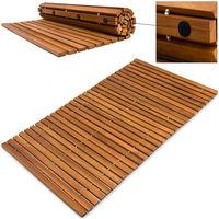 Tapis de bain anti-dérapants pieds en caoutchouc - bois d'acacia huilé résistant