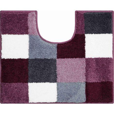 Tapis de bain BONA berry contour wc 50 x 60 cm / Couleur: Berry / Référence: b2747-006001022