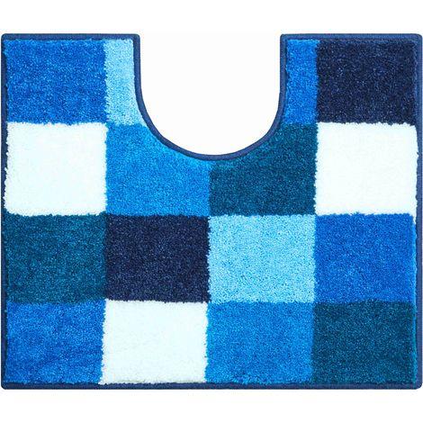 Tapis de bain BONA bleu contour wc 50 x 60 cm / Couleur: Bleu / Référence: b2747-006001244