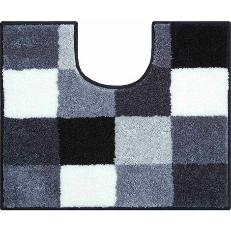 Tapis de bain BONA gris contour wc 50 x 60 cm / Couleur: Gris / Référence: b2747-006001115