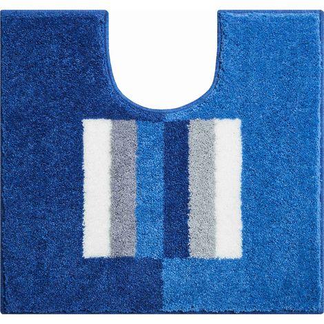 Tapis de bain CAPRICIO bleu contour wc 55 x 60 cm / Couleur: Bleu / Référence: b4109-007001133