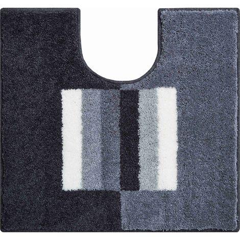 Tapis de bain CAPRICIO gris contour wc 50 x 60 cm / Couleur: Gris / Référence: b4109-007001096