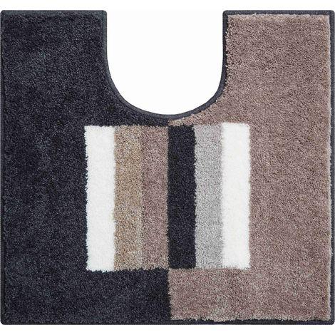 Tapis de bain CAPRICIO marron contour wc 55 x 60 cm / Couleur: Marron / Référence: b4109-007001213