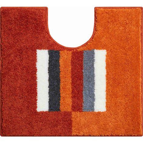 Tapis de bain CAPRICIO orange contour wc 55 x 60 cm / Couleur: Orange / Référence: b4109-007001081