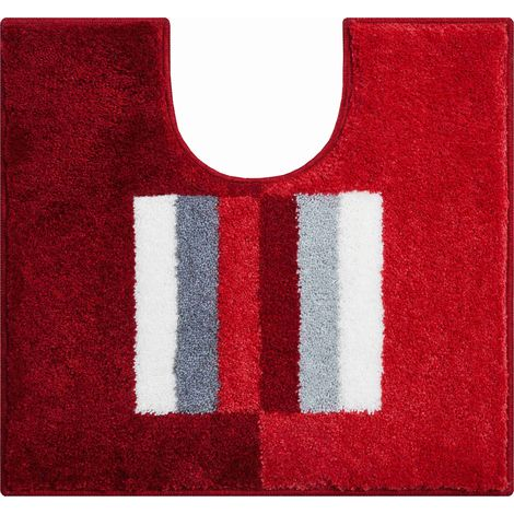 Tapis de bain CAPRICIO rubis contour wc 55 x 60 cm / Couleur: Rubis / Référence: b4109-007001045