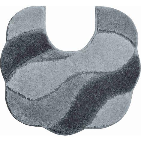 Tapis de bain CARMEN gris contour wc 55 x 50 cm / Couleur: Gris / Référence: b2048-044115